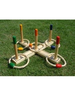 Ringwurfspiel in Holzausführung